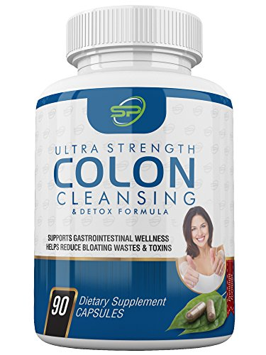 Ultra-Strong  Colon Cleanse Supplement  For  Men  &  Women  By  SP  Organics  | Natural & Healthy Digestion & Metabolism Booster | Relieve Bloating & Promote Gastrointestinal Wellness | Remove Toxins (Colon Cleanse Organic)