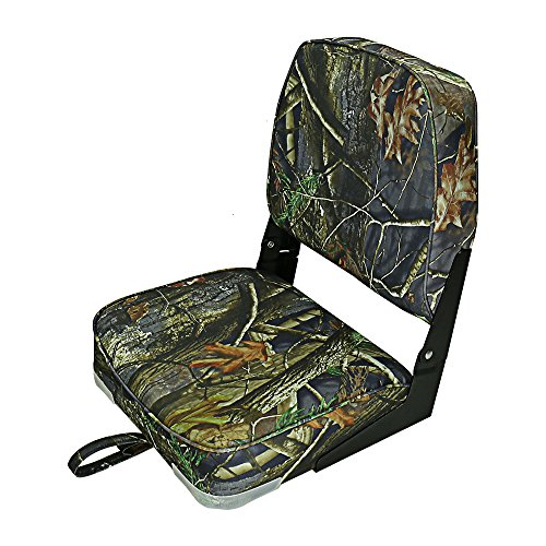 Fishing/Hunting Low Back Fold-Down Boat Seat, Color Camo/grey/blue (Fold Down Boat Seat)