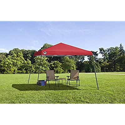 Quik Shade 167505DS Tech Slant Leg Canopy, 12 x 12', Red : Sports & Outdoors
