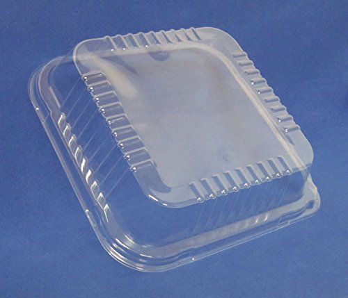 Durable Packaging Plastic Dome Lid for Square Cake Can, 9'' (Pack of 500) by Durable Packaging (Image #1)