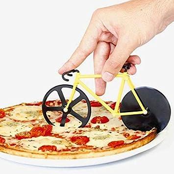 Dealetech - Cortador de pizza para bicicleta con ruedas dobles de ...