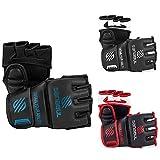Sanabul Essential MMA Grappling Gloves (Black/Blue, Small/Medium)