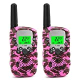 Walkie Talkies for Kids Voice Activated Walkie Talkies for Adults and Kids 3 Mile Range 2 Way Radio Walkie Talkies Built in Flash Light 2 Pack (Pink Camo)