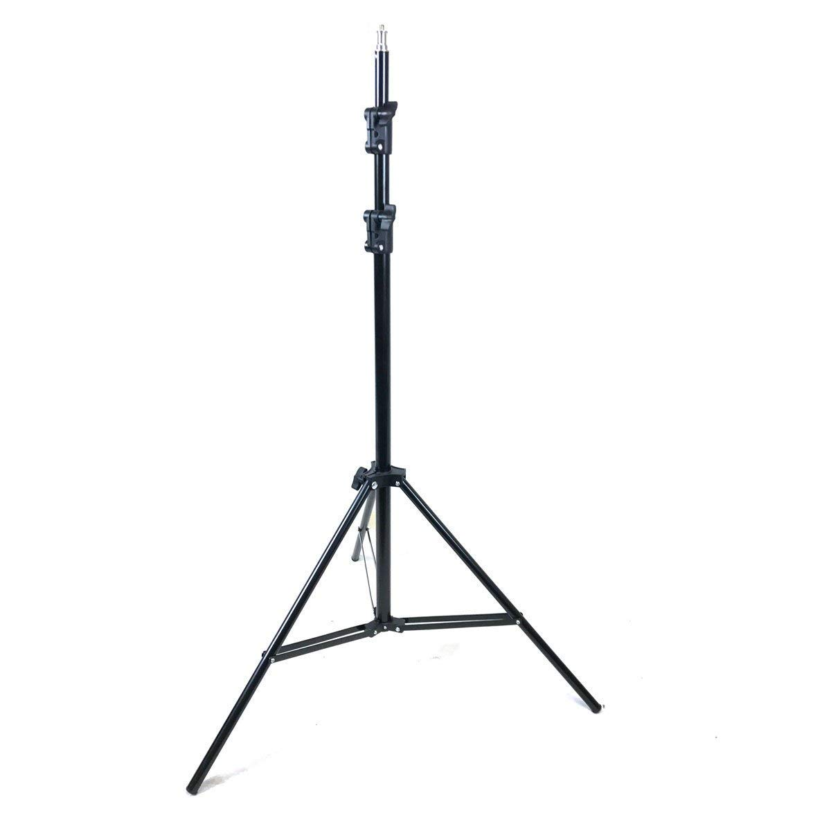 StudioFX 400W Set of (2) 84'' Photo Light Stand Snow-White Umbrella Light/Includes 45W 5500K Bulb CHDK2