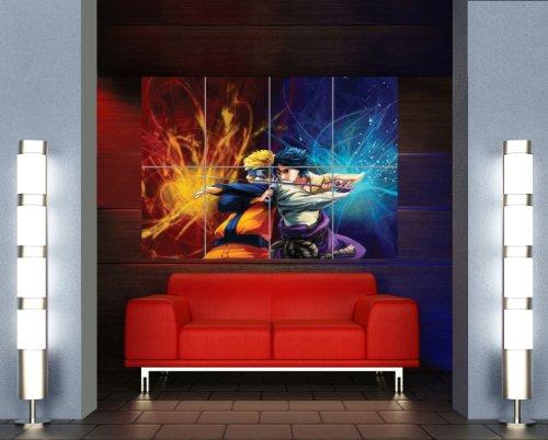 NARUTO VS SASUKE GIANT POSTER ART PRINT X3210