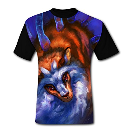 BYTimz Surprised Baboon Gorilla T-shirts 3D Graphic Round Neck Tops for Men