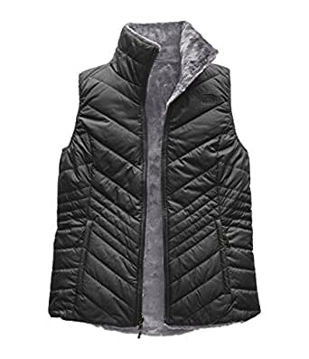 The North Face Women's Mossbud Insulated Revesible Vest - Asphalt Grey & Mid Grey - XS