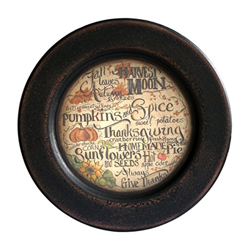 CVHOMEDECO. Primitive Vintage Fall Decorative Wood Plate Festival Display Wooden Plate Home Décor Art, 11-1/4'' Dia. by CVHOMEDECO.