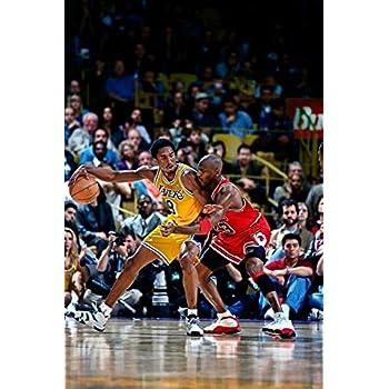 Michael Jordan & Kobe Bryant 1998 Action Glossy Photograph Photo Print, 24