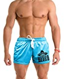 Interstate Apparel Men's Mexico Mexico Hat V376 Blue Mesh Gym Shorts Small