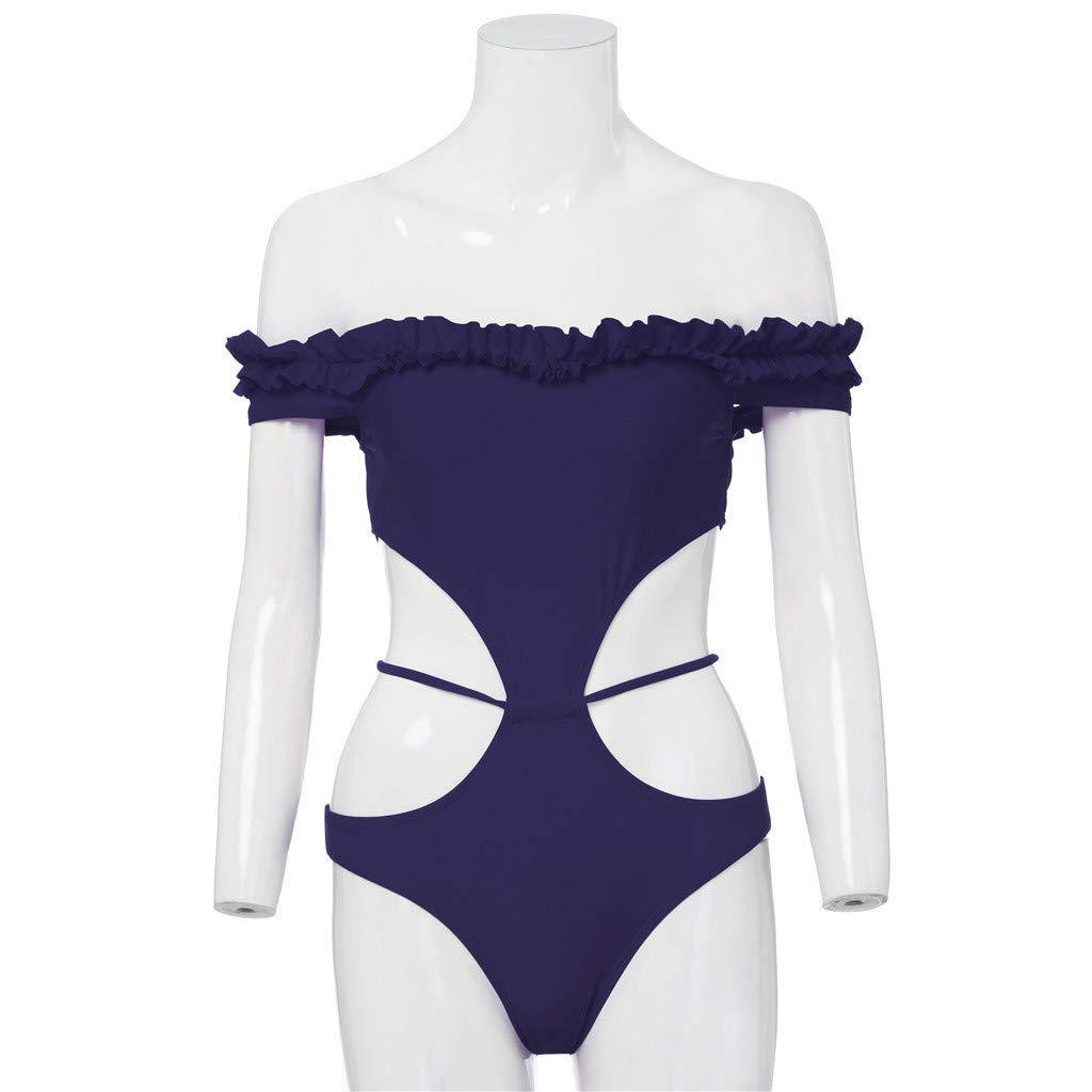 Bikini para Mujer, Traje De Baño De Una Sola Pieza para Mujer Bikini Push-up Moda Sexy Mono: Amazon.es: Ropa y accesorios