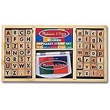Melissa & Doug Alphabet Stamp Set 2PC