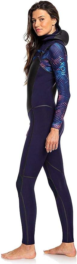 Roxy Damen Syncro 4//3mm Chest Zip Wetsuit Blue Ribbon Coral Flame thermische warme Hitze legere Einfache Stretch