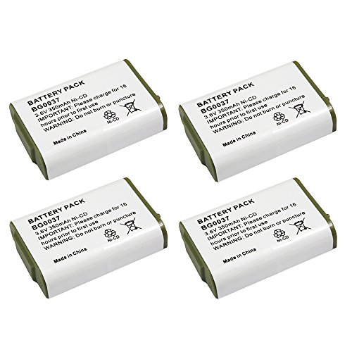4 Pack Fenzer Replacement Cordless Phone Rechargeable Bat...