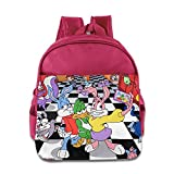 Kids Tiny Toon Adventures School Backpack Cute Baby Children School Bags Pink