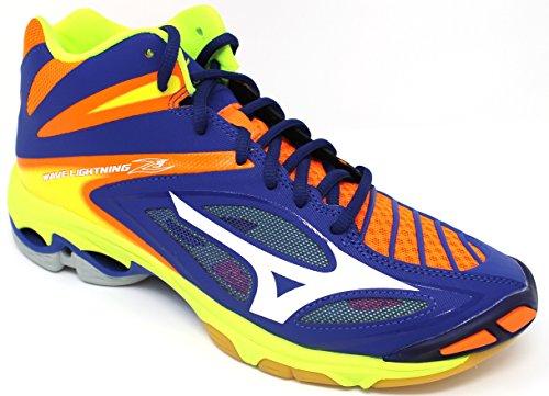 Mizuno Wave Lightning Z3 Mid, Zapatos de Voleibol para Hombre Multicolor (Surftheweb/white/orangeclownfish)