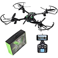 Contixo F6 RC Quadcopter Racing Drone 2.4Ghz 6-Axis Gyro with 720P Rotating HD Camera, FPV Live Feed, Headless, 18 Minutes Flight Time, 360 Flips, Mobile App, Hover, VR Ready- Best Gift Idea