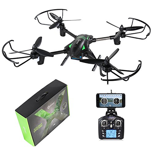 Contixo F6 RC Quadcopter Racing Drone 2.4Ghz 6-Axis Gyro with 720P Rotating HD Camera, FPV Live Feed, Headless, 18 Minutes Flight Time, 360 Flips, Mobile App, Hover, VR Ready (F6)