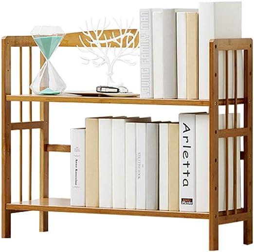 Estante para Libros Estantería Simple estanterías de bambú ...
