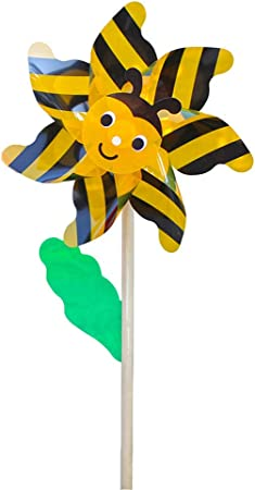Sayletre Juego de Madera Abeja Molino de Viento Spinner Molinillos Inicio Yarda del jardín de niños Accesorios Decorativos Juego de los Juguetes: Amazon.es: Hogar