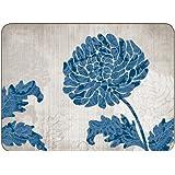 Jason Chrysanthemum Blue Placemats - Set of 6