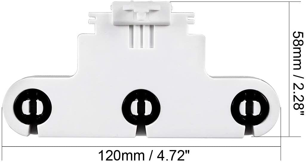 7pcs 2A G13-F263W T8 Triple Light Socket G13 Base Fluorescent Lamp Holder Adapter