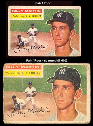 1956 Topps Regular Baseball Card 181 Billy Martin Of The