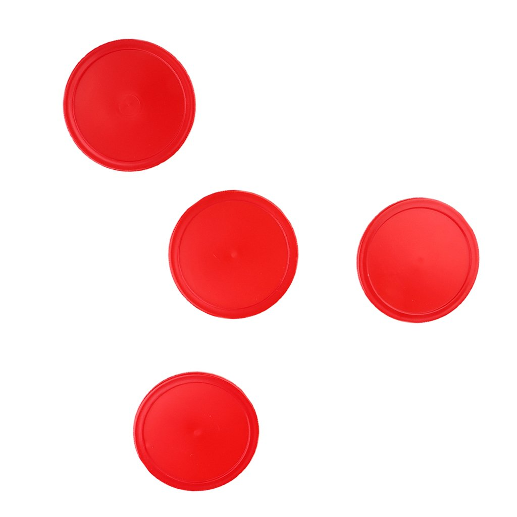 Homyl Red Air Hockey Pucks Replacement Pucks - Pack of 4, 3 Size Options