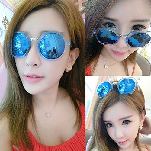 nouveau cycle des lunettes de soleil madame le visage rond korean rétro - yeux star des lunettes des lunettes de soleil la maréeblue film bleu (sac) PkjeqpYIzh