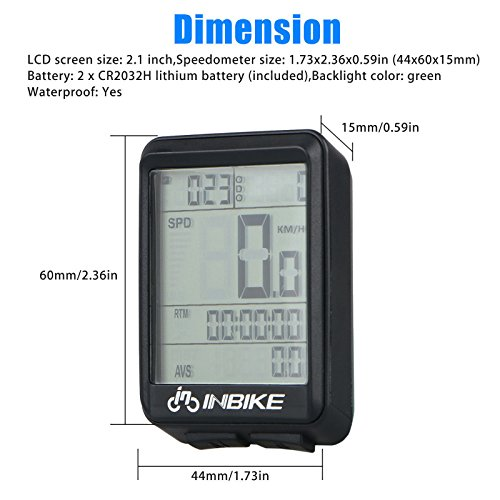 Waterproof Design 11 Function Day/Night Bicycle Computer LCD Backlight Multifunction Digital Sport Cycling Wireless Sensor Speedometer Fits All Bikes Easy Install and Operate BK141 by iGrove (Image #7)