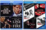 Presidential Action Clint Eastwood in the Line of Fire + Harrison Ford Air Force One Blu Ray & Absolute Power / Sudden Impact / Firefox / The Enforcer Pack Crime Action Pack 6 Movie Set Feature Films