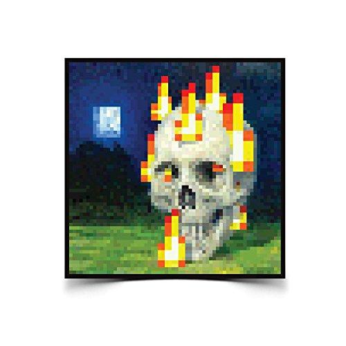 Jinx Minecraft Burning Skull Poster