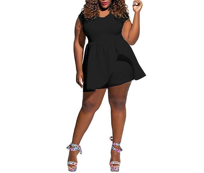 6765c0d62d2 Luca Ms-Fat Plus Size Women Clubwear Summer Playsuit Jumpsuit Trousers (L