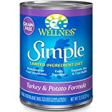 Wellness Simple Limited Ingredient Diet Grain Free Turkey & Potato Natural Wet Canned Dog Food, 12.5-Ounce Can (Pack of 12)