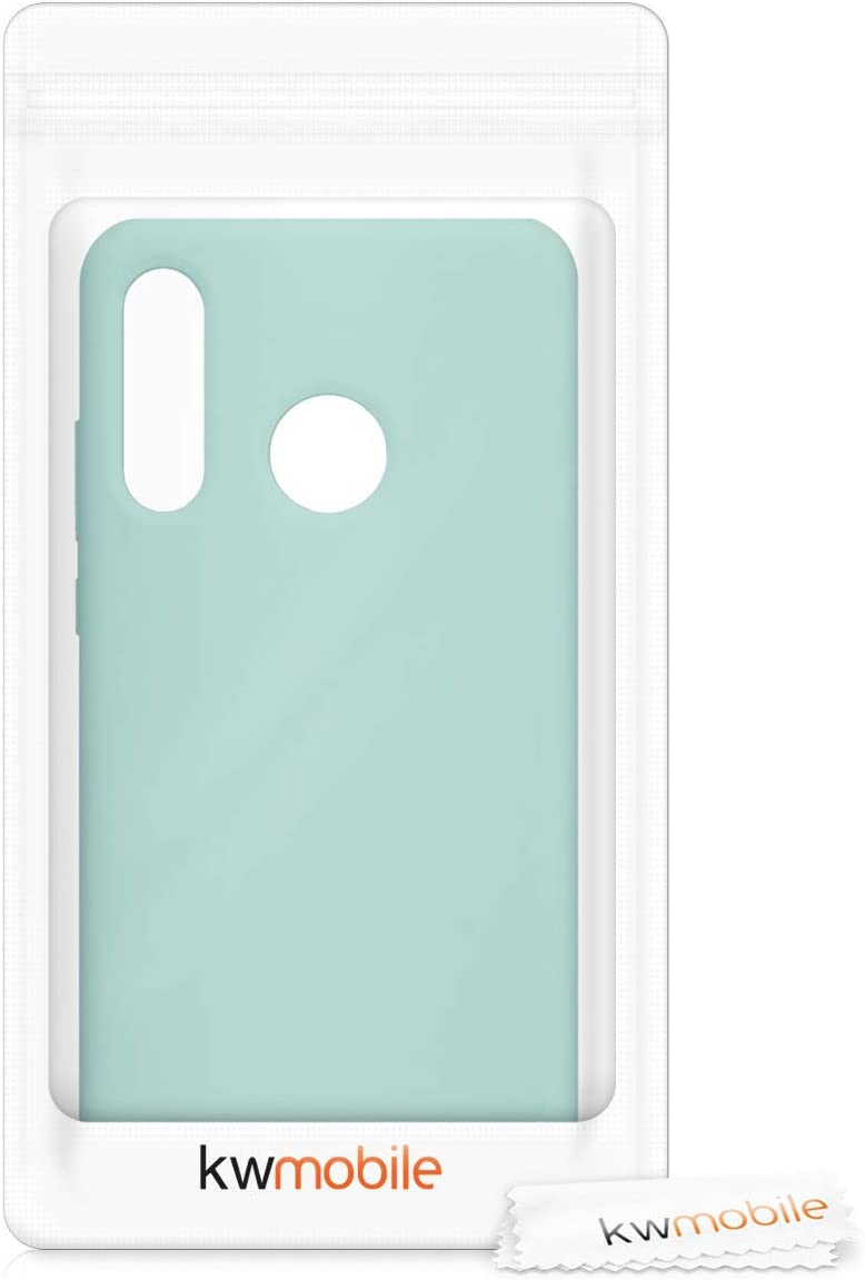 kwmobile TPU Silicone Case for Huawei P30 Lite Soft Flexible Rubber Protective Cover Mint Matte