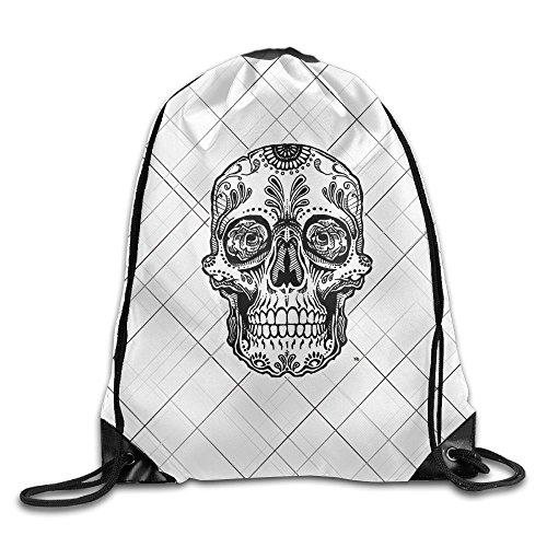 Price comparison product image MissMr Dead Sugar Skull Belt Sports Backpack, Fashion Trend,  Polyester Sports Bag, Net Red Part, Men's Handbag, Ladies, Teenager, Adult, Outdoor Work, Office, Lunch Box