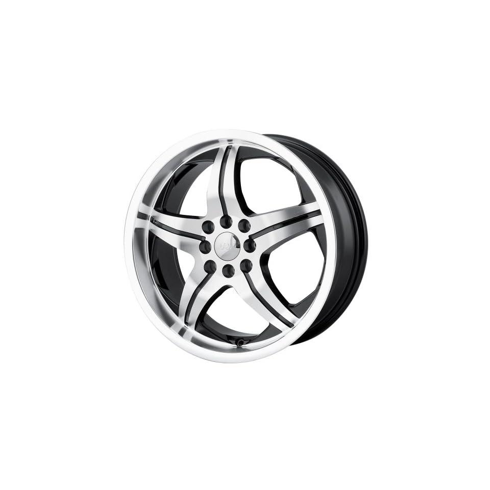 17x7 MPW Style MP107 (Black w/ Machined Face) Wheels/Rims 4x100/114.3 (MP107 7701B) Automotive