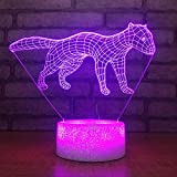 3D Night Light 7 Color Change Animal Touch Button USB Weasel Modeling 3D LED Kids Table Lamp for Living Room Luminarias Home Decor