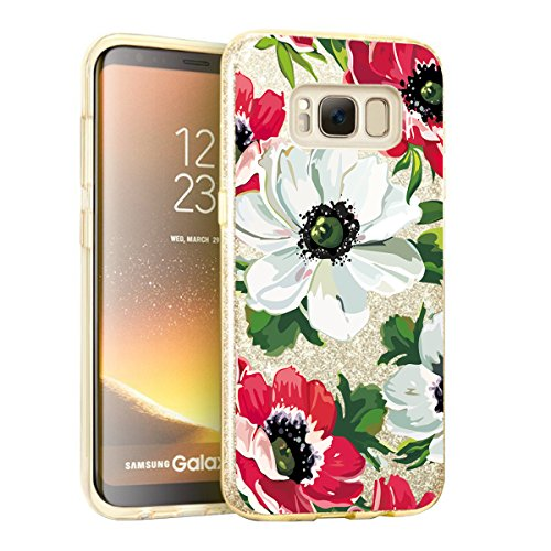 Price comparison product image Beryerbi Samsung Galaxy s8/s8 Plus Case Bling Glitter Sparkle Shell Skin Protect Cover (Galaxy s8, 3)