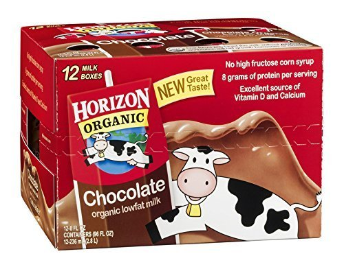 Horizon Organic Lowfat Milk Chocolate 12/8 FZ (Pack of 6) by Horizon Organic