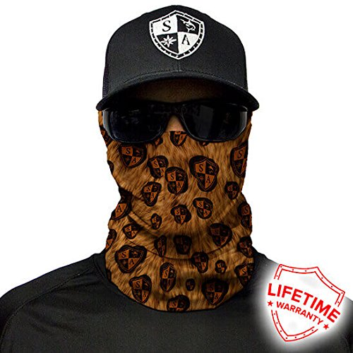 Salt Armour Leopard Print Face Shield Mask tubular bandanas Hunting Fishing Outdoor by Unknown (Image #3)