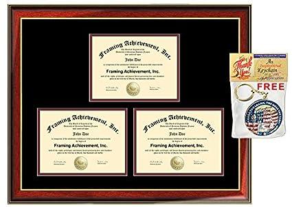 Amazon com : Graduation Frame Three Diploma College State Board