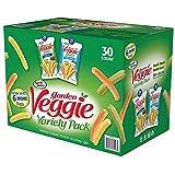 3 X Sensible Portions Garden Veggie Snack Straws Shape Chips Variety Pack,
