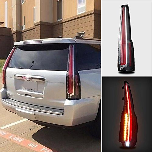 Vland For GMC Yukon TailLights 2015-2018 LED Rear Lamp Brake Cadillac Escalade Style ()