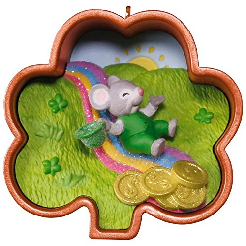 (Hallmark St Patrick's Day - What Luck! Cookie Cutter Mouse Ornament )