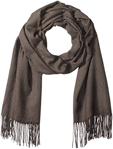 PURE STYLE Girlfriends Women's Super Soft, Elegant, Fringed Scarf Pashmina Shawl Versatile, Grey, One Size by PURE STYLE Girlfriends
