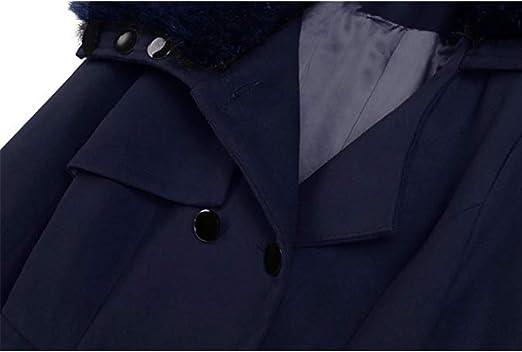 HANMAX Trench Femme Manteau de Laine Femme à Double Rangée de Boutons Manches Longue Automne Hiver Grande Taille