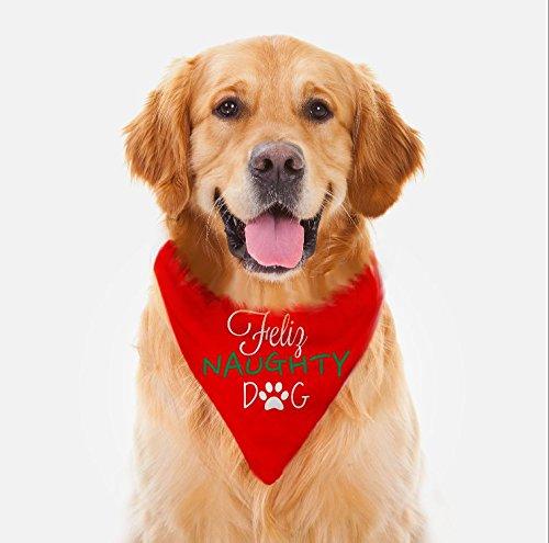 Feliz Naughty Dog Pet Bandana - Dog Collar, Christmas Dog Bandana