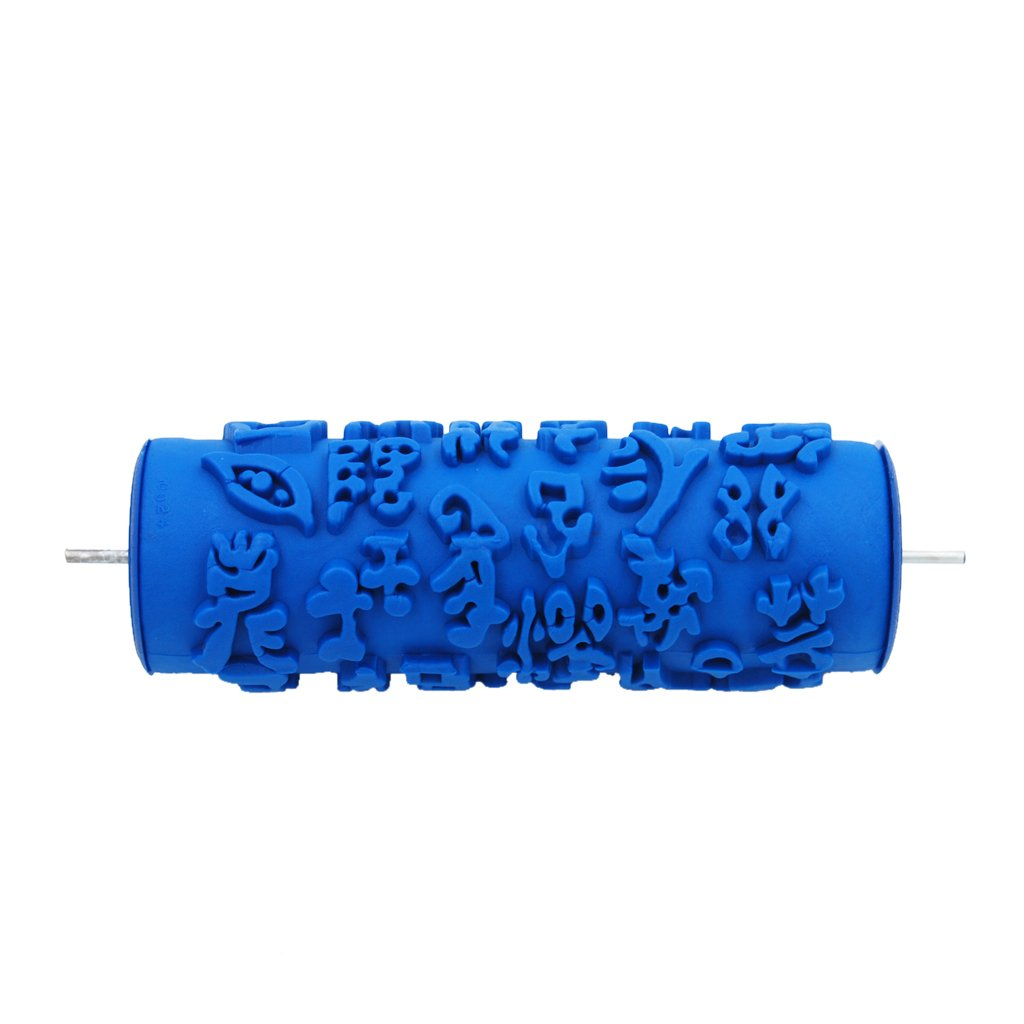 MonkeyJack 5inch Printing Rubber Pattern Roller Wall Decor Tool For Decoration Machine - 024Y