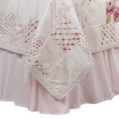 Shabby Bedskirt (Simply Shabby Chic® Bedskirt -Queen Pink)